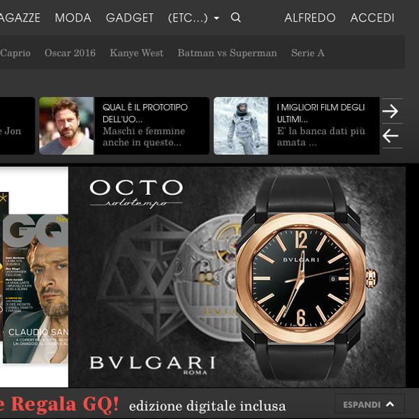 Progettazione di un digital embed che permette di incorporare una versione digitale di Bvlgari Octo in una pagina web